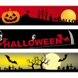 Halloween - 3 various banner — Stock Vector