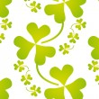 Seamless shamrock pattern — Stock Vector