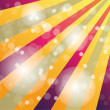 Vintage poster with rainbow color sunbeams and bokeh — Vecteur #13781402