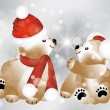 Royalty-Free Stock Vector Image: Lovely Christmas teddies