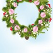 Royalty-Free Stock Vector Image: Christmas wreath with decoration