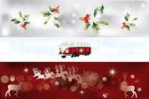 Various Christmas banner — Stock Vector