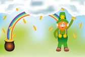 The gold of the Leprechaun — Stock Vector