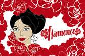 Vintage poster Flamenco — Stock Vector