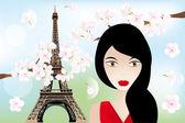 Spring in Paris — Stock Vector