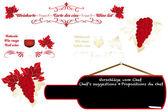 Calligraphic artistic wine design — Stock Vector