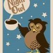 Stock Vector: Night owl poster