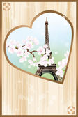 Paris mon amour - Paris my love — Stock Vector