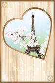 Paris mon amour - Paris my love — Stock Vector