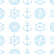 Nautical seamless pattern for fabric — Stock Vector