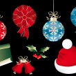 Stock vektor: Various isolated Christmas objects