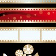 Movie banners and paraphernalia — Stock Vector