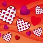 Creative hearts background — Stock Vector