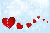 Grungy heartbreak illustration — Stock Vector