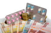 Medicines and money — Stock fotografie