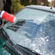 Frost on car window — Stockfoto