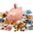 Saving pig — Stock Photo