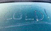 Cold written on screen — Stok fotoğraf