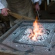 Blacksmith at work — Stockfoto #18263335