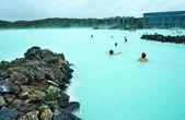 το θέρετρο μπλε λιμνοθάλασσα — Φωτογραφία Αρχείου