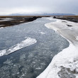 River with ice — Foto Stock