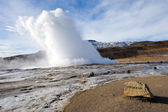 Geyser exloding in Iceland — Stock Photo