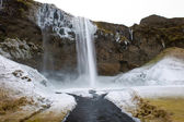 Seljalandsfoss waterfall — 图库照片