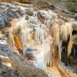 Stock Photo: Waterfall of rusty iron