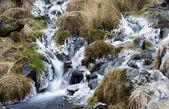 Mały wodospad mrożone — Zdjęcie stockowe