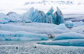 Buzdağları jokulsarlon içinde — Stok fotoğraf