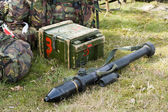 Bazooka on ground — Stock Photo