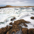 Frozen waterfall in Iceland — Stock Photo
