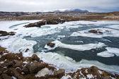 Divoká řeka na islandu — Stock fotografie