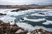 Wilde rivier in ijsland — Stockfoto