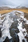 река в исландии — Стоковое фото