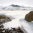 Stock Photo: Rock in snow