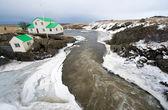 Rzeka na islandii — Zdjęcie stockowe