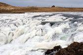 Zamarzniętym wodospadzie w islandii — Zdjęcie stockowe