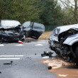 Stock Photo: Cars crashed