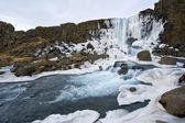 Wodospad w doliny pingvellir — Zdjęcie stockowe