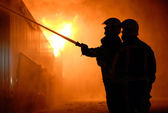 Firefighters at work — Foto Stock
