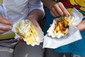 French frites — Stock Photo