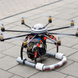 Stock Photo: Octocopter take-off