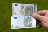 Old and new banknote — Stock Photo