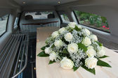 Coffin in car — Stok fotoğraf