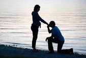 Kissing hand of girlfriend — Stock Photo