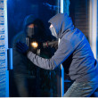 Burglar at work — Stock Photo