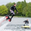 Foto Stock: Flyboard demonstration