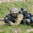 Stock Photo: Armed special forces training