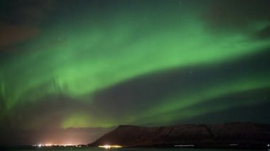 Time laps aurora borealis — Stockvideo